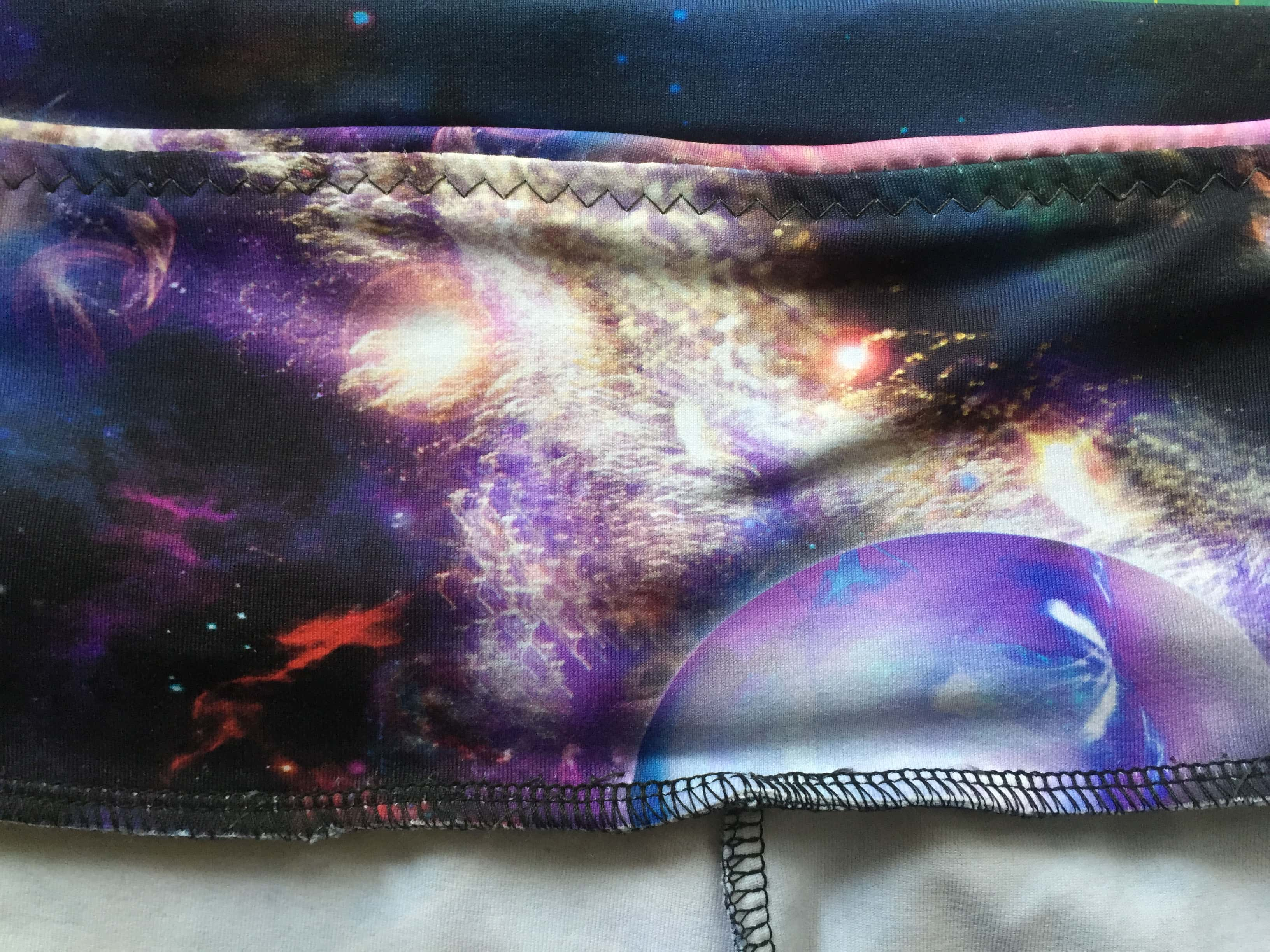 Waistband, picture of the inside to capture  the detail of the elastic insertion