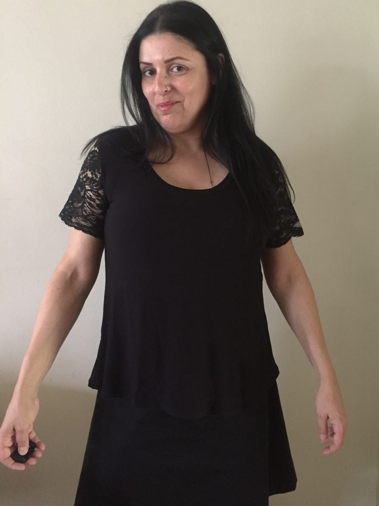 Goth Spring: Adding Lace Details to a T-Shirt