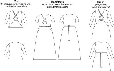 Image of the line drawing for the Natalie dress