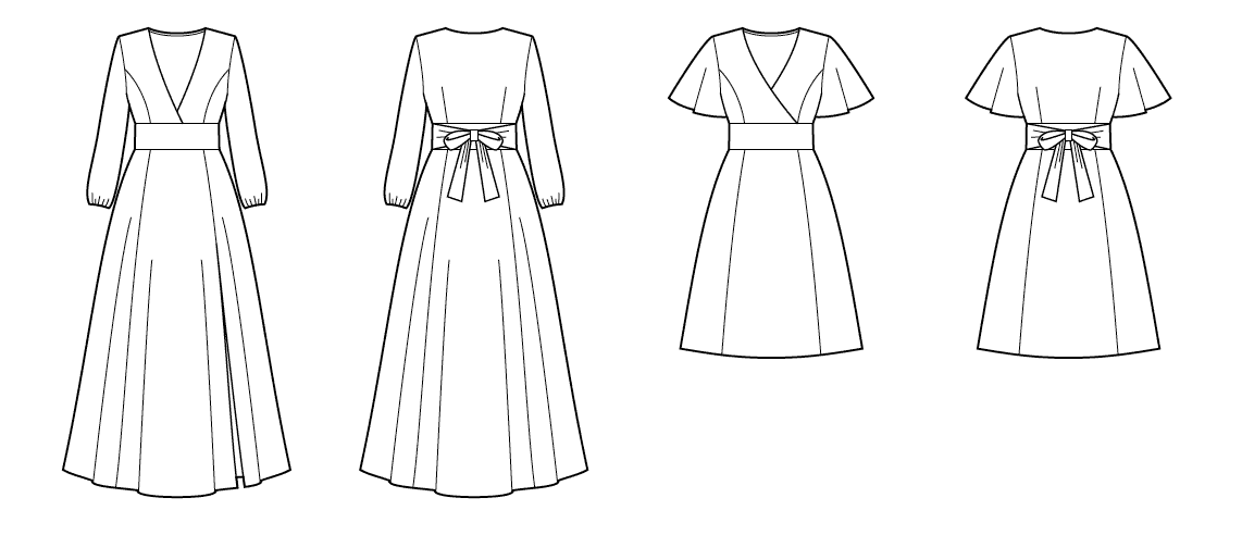 Image of the two versions of the Magnolia dress by Deer and Doe
