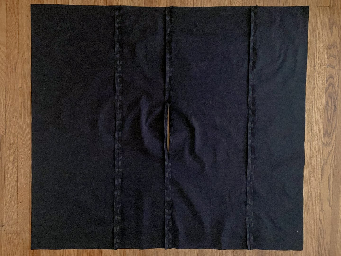 Image of all four pattern pieces that make the body of the diy yoga bolster