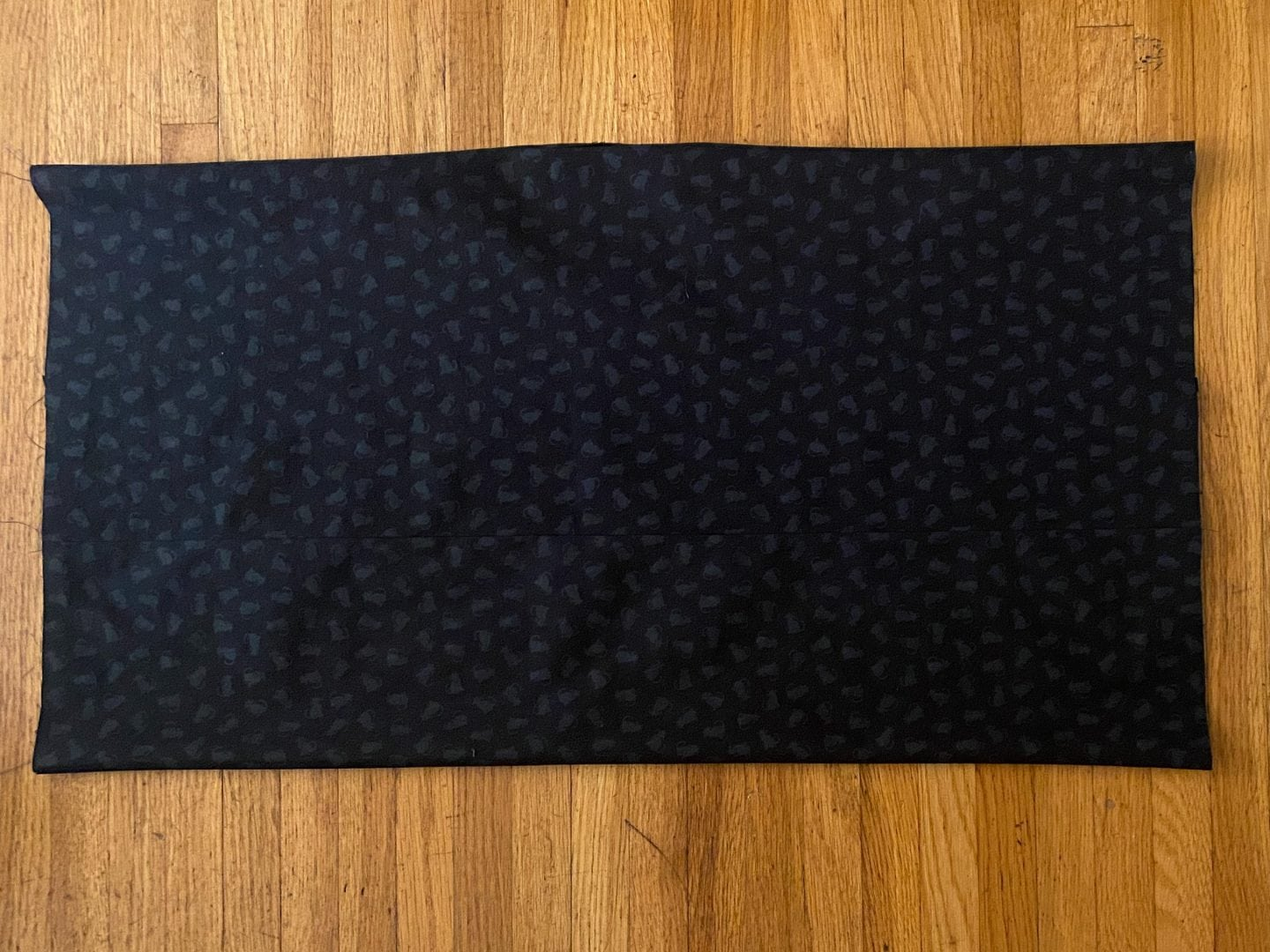 Image of the completed body of the diy yoga bolster