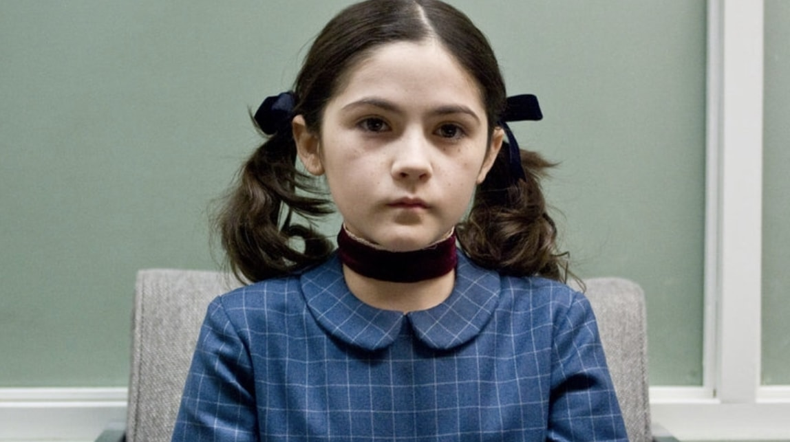 Still of actress Isabelle Fuhrman as the character Esther in the movie Orphan