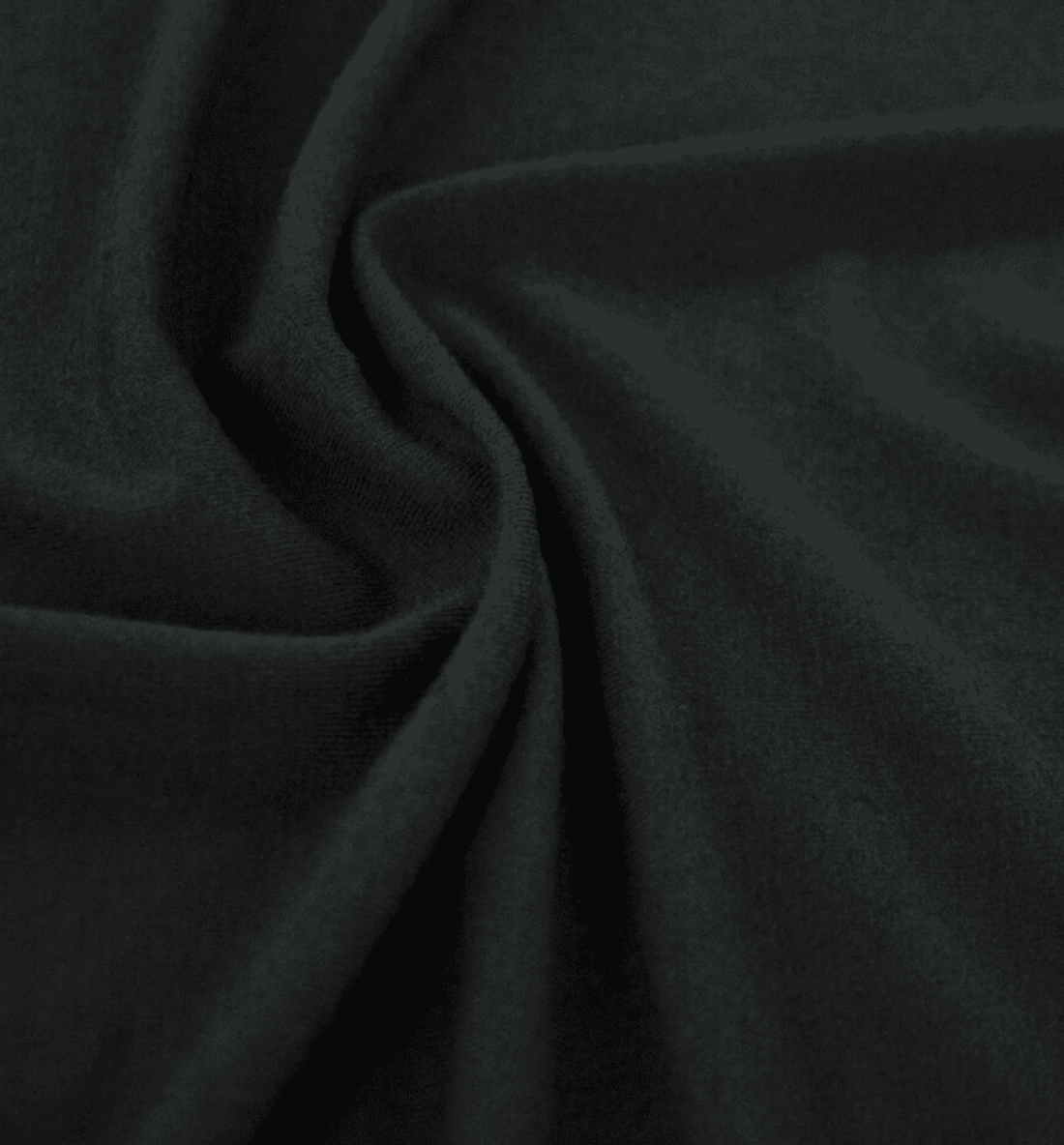 Detail of black rayon knit fabric
